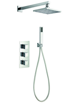 Pura Bloque2 Triple Thermostatic Valve With Head And Handset Kit