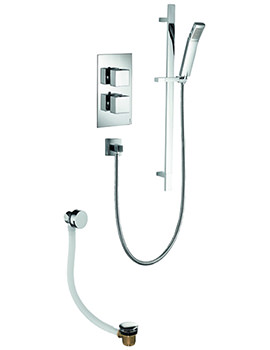 Pura Bloque2 Twin Oultet Thermostatic Valve With Slide Rail Kit And Filler