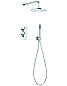 Pura Arco Thermostatic Valve With Head And Handset Kit