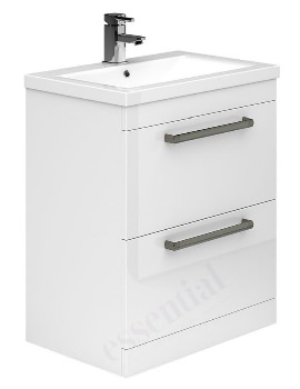 Essential Nevada 800mm White 2 Drawers Vanity Unit And Basin