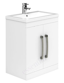 Essential Nevada 800mm White 2 Door Vanity Unit And Basin