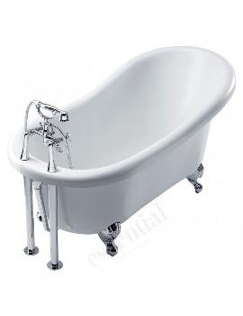 Essential Lambeth Single Ended Freestanding Sleeper Bath 1560 x 740mm