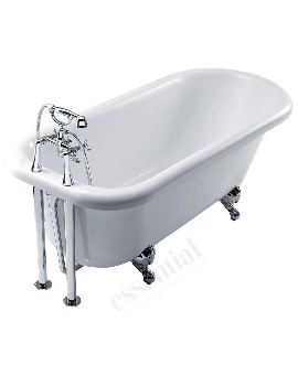 Essential Lambeth Curved Single Ended Freestanding Bath 1700 x 760mm
