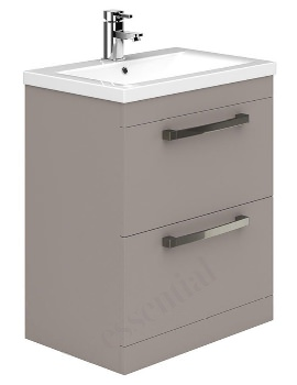 Essential Nevada 800mm Cashmere 2 Drawers Vanity Unit And Basin
