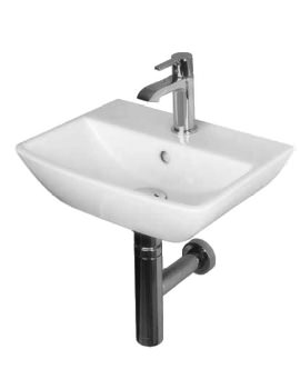 Essential Jasmine 400mm Wall Hung Handrinse Basin With 1 Tap Hole