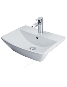 Essential Jasmine 500mm Semi Recessed Basin With 1 Tap Hole
