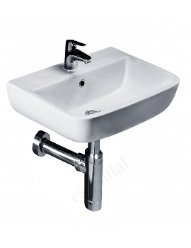 Essential Orchid 400mm Wall Hung Basin With 1 Tap Hole