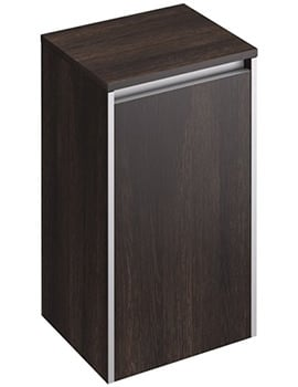 Pura Xcite 350 x 300mm Dark Oak Single Door Side Storage Unit