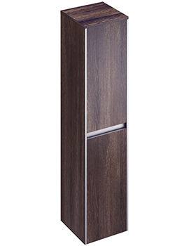 Pura Xcite 350 x 1500mm Dark Oak Double Door Tall Storage Unit