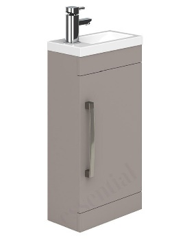 Essential Nevada 400mm Single Door Vanity Unit And Basin Cashmere