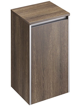 Pura Xcite 350 x 300mm Light Oak Single Door Side Storage Unit