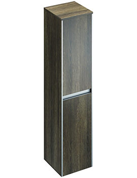 Pura Xcite 350 x 1500mm Light Oak Double Door Tall Storage Unit