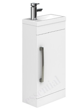 Essential Nevada 400mm Single Door Vanity Unit And Basin White