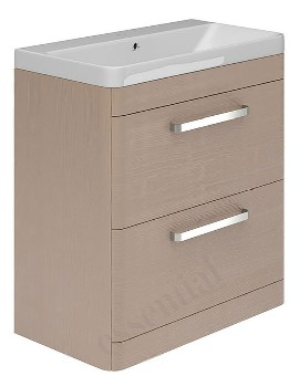 Essential Vermont 800mm Light Grey 2 Drawer Vanity Unit And Basin