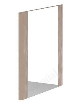 Essential Vermont 450 x 600mm Light Grey Rectangular Mirror