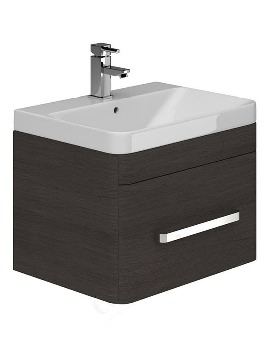 Essential Vermont Dark Grey Wall Hung Vanity Unit And Basin 800mm