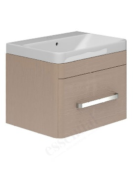 Essential Vermont Light Grey Wall Hung Vanity Unit And Basin 800mm