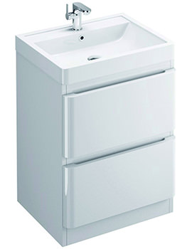 Pura Flite Double Drawer Floor Standing Unit And Basin