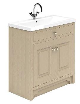Essential Hampshire 2 Door Stone Grey 800mm Vanity Unit And Basin