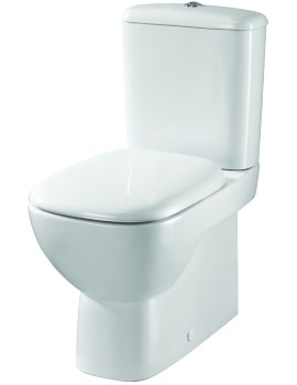 Twyford Moda Close Coupled Back-To-Wall WC Pan With Cistern 640mm
