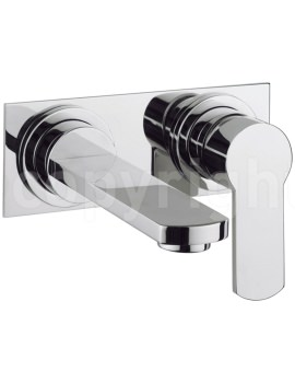 Crosswater Wisp 2 Hole Basin Tap Set With Back Plate