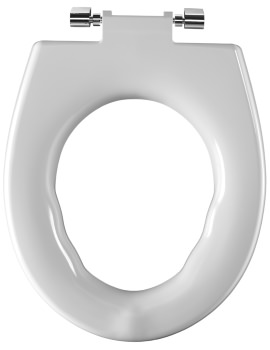 Twyford Avalon-Sola Rimless Toilet Seat Ring With Stainless Steel Hinges