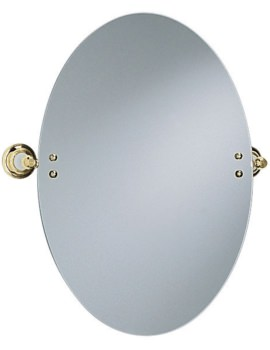 Heritage Clifton Vintage Gold Oval Swivel Mirror