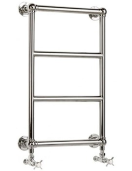 Heritage Portland Wall Mounted Heated Towel Rail 457 x 750mm