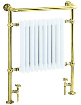 Heritage Clifton Heated Towel Rail 735mm In Vintage Gold Finish