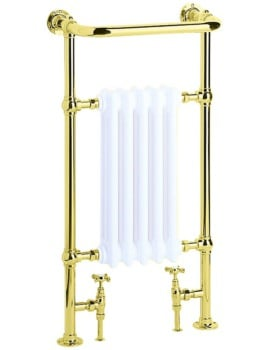 Heritage Clifton Baby Heated Towel Rail 500mm Vintage Gold Finish