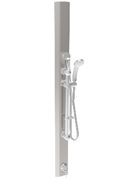 Twyford Sola Stainless Steel Thermostatic Shower Panel With Kit