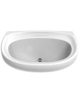 Twyford Sola Spectrum 600 x 480mm Washbasin With Back Outlet