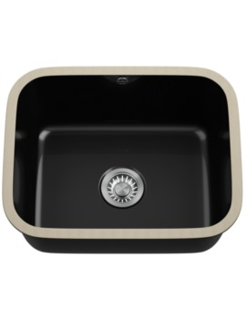 Franke VBK 110 50 Ceramic 1.0 Bowl Black Undermount Sink
