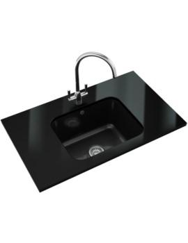 Franke VBK 110 50 Designer Pack - Black Ceramic Sink And Tap