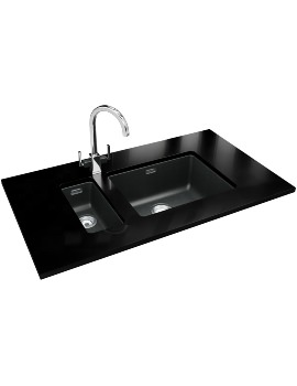 Franke Kubus DP KBG 110 16 + KBG 110 50 Fragranite Onyx Sink And Tap