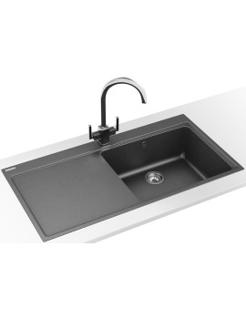 Franke Mythos MTG 611 DP - Fragranite Stone Grey Left Drainer Sink And Tap
