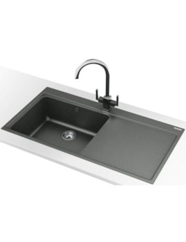 Franke Mythos MTG 611 DP - Fragranite Stone Grey Right Drainer Sink And Tap