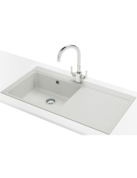 Franke Mythos MTG 611 DP - Fragranite Polar White Right Drainer Sink And Tap