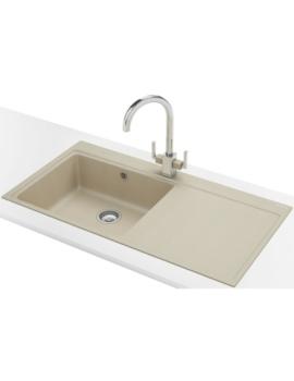 Franke Mythos MTG 611 DP - Fragranite Coffee Right Drainer Sink And Tap