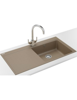 Franke Mythos MTG 611 DP - Fragranite Oyster Left Drainer Sink And Tap
