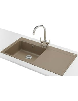 Franke Mythos MTG 611 DP - Fragranite Oyster Right Drainer Sink And Tap