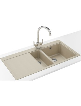 Franke Mythos MTG 651-100 DP - Fragranite Coffee 1.5B LHD Sink And Tap