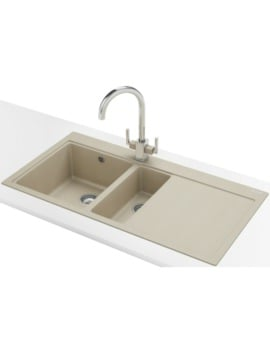 Franke Mythos MTG 651-100 DP - Fragranite Coffee 1.5B RHD Sink And Tap