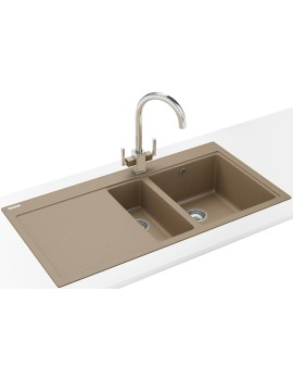 Franke Mythos MTG 651-100 DP - Fragranite Oyster 1.5 Bowl LHD Sink And Tap