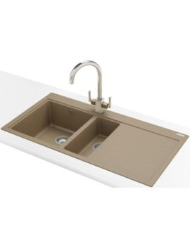 Franke Mythos MTG 651-100 DP - Fragranite Oyster 1.5 Bowl RHD Sink And Tap