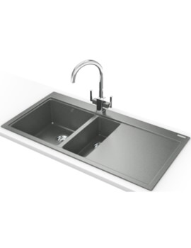 Franke Mythos MTG 651-100 DP - Fragranite Stone Grey 1.5B RHD Sink And Tap