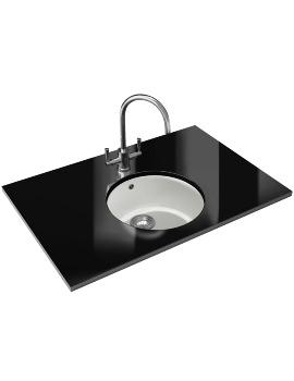 Franke Rotondo RUG 110 DP - Fragranite Polar White Sink And Tap