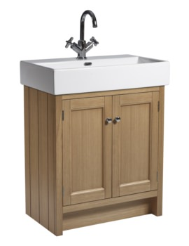 Roper Rhodes Hampton 700mm Natural Oak Vanity Unit With Basin