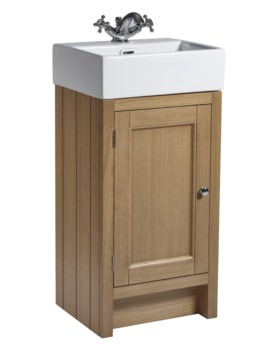 Roper Rhodes Hampton 420mm Natural Oak Cloakroom Unit With Basin