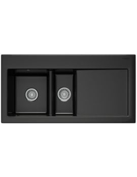 Franke Mythos MTK 651 Ceramic Black RHD 1.5 Bowl Kitchen Inset Sink